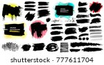 set of hand painted brush... | Shutterstock .eps vector #777611704