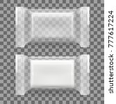 realistic packed white...   Shutterstock .eps vector #777617224