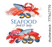 Banners Seafood Page Design...