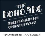 vector cartoon latin slanted... | Shutterstock .eps vector #777620014