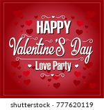 happy valentine's day | Shutterstock .eps vector #777620119