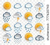 weather icons on the checked... | Shutterstock .eps vector #777620743