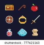 vector pixel art illustration... | Shutterstock .eps vector #777621163