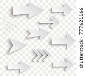 white arrows on the checked... | Shutterstock .eps vector #777621166