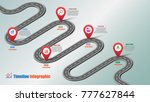 business road map timeline... | Shutterstock .eps vector #777627844