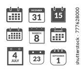 set of calendar user interface...