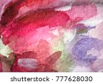 abstract watercolor painted... | Shutterstock . vector #777628030