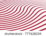 red and white wave stripe... | Shutterstock .eps vector #777628234