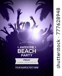 dancing young people... | Shutterstock .eps vector #777628948