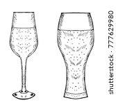 vintage different glasses... | Shutterstock .eps vector #777629980