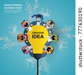 idea concept for business... | Shutterstock .eps vector #777630190