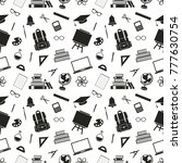 seamless pattern with icons of... | Shutterstock . vector #777630754