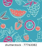fruits seamless background | Shutterstock .eps vector #77763382