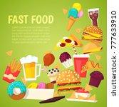 fast food vector nutrition...   Shutterstock .eps vector #777633910