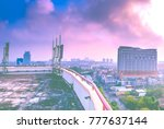 cityscape view and sky... | Shutterstock . vector #777637144