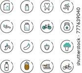 line vector icon set   diet... | Shutterstock .eps vector #777639040