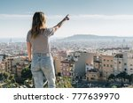 rear view of young woman...   Shutterstock . vector #777639970