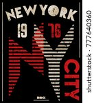 newyork athletic graphic design | Shutterstock .eps vector #777640360