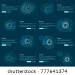 radar webpages collection with... | Shutterstock .eps vector #777641374
