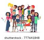 people in love  standing... | Shutterstock .eps vector #777641848