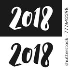 happy new year 2018 greeting... | Shutterstock . vector #777642298