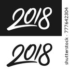 happy new year 2018 greeting... | Shutterstock . vector #777642304