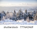 winter landscape. winter forest ... | Shutterstock . vector #777642469