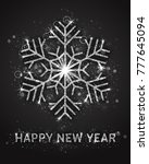 happy new year vector greeting... | Shutterstock .eps vector #777645094