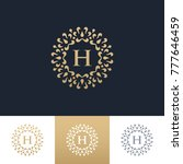 monogram logo template | Shutterstock .eps vector #777646459