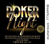 vector logo luxury poker night. ... | Shutterstock .eps vector #777649948