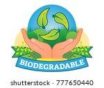 biodegradable concept vector... | Shutterstock .eps vector #777650440