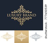 luxury logo template | Shutterstock .eps vector #777650539