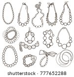 collection of gold jewelery...   Shutterstock .eps vector #777652288