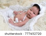 portrait of asia boy newborn is ... | Shutterstock . vector #777652720