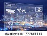 business digital infographic... | Shutterstock . vector #777655558