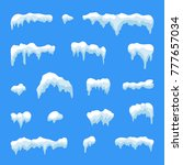 snow ice icicle set winter... | Shutterstock . vector #777657034
