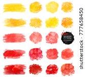 set of watercolor stain. vector ... | Shutterstock .eps vector #777658450