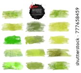set of watercolor stain. vector ... | Shutterstock .eps vector #777658459