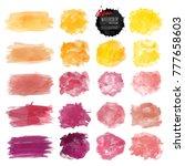 set of watercolor stain. vector ...   Shutterstock .eps vector #777658603