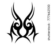 tattoo tribal vector design.... | Shutterstock .eps vector #777662530