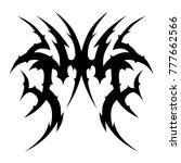 tattoo tribal vector design.... | Shutterstock .eps vector #777662566