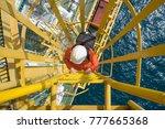 electrical technician carrying...   Shutterstock . vector #777665368