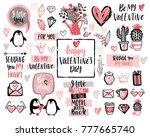 valentine s day lettering... | Shutterstock .eps vector #777665740