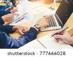 startup business team meeting...   Shutterstock . vector #777666028