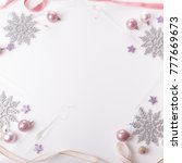 christmas holiday composition ... | Shutterstock . vector #777669673