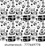 christmas seamless pattern in... | Shutterstock .eps vector #777669778