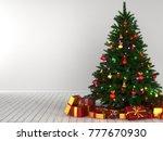 3d rendering decorated... | Shutterstock . vector #777670930