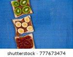 homemade tasty fresh sandwich... | Shutterstock . vector #777673474