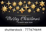 calligraphic merry christmas...   Shutterstock .eps vector #777674644