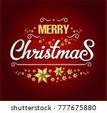 merry christmas card | Shutterstock .eps vector #777675880